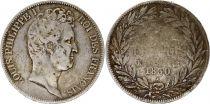 France 5 Francs Louis-Philippe 1830 K Bordeaux Argent - en creux