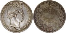 France 5 Francs Louis-Philippe 1830 W Lille  incuse lettering - Silver