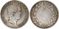 France 5 Francs Louis-Philippe 1831 B Rouen incuse lettering - Silver