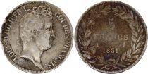 France 5 Francs Louis-Philippe 1831 I Limoges Argent - en creux
