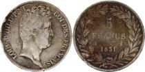 France 5 Francs Louis-Philippe 1831 I Limoges incuse lettering - Silver