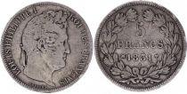 France 5 Francs Louis-Philippe 1er - 1831 MA Marseille Rare