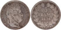 France 5 Francs Louis-Philippe 1er - 1834 A Paris