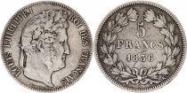 France 5 Francs Louis-Philippe 1er - 1836 K Bordeaux - 2 em ex
