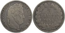 France 5 Francs Louis-Philippe 1er - 1836 K Bordeaux