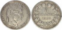 France 5 Francs Louis-Philippe 1er - 1839 BB Strasbourg