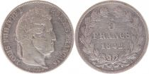 France 5 Francs Louis-Philippe 1er - 1842 B Rouen