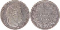 France 5 Francs Louis-Philippe 1er - 1842 B Rouen