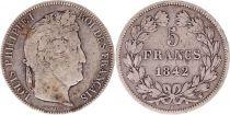France 5 Francs Louis-Philippe 1er - 1842 W Lille