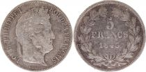 France 5 Francs Louis-Philippe 1er - 1843 W Lille