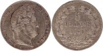France 5 Francs Louis-Philippe 1er - 1845 W Lille