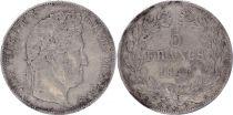 France 5 Francs Louis-Philippe 1er - 1846 BB Strasbourg