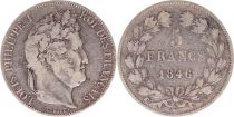 France 5 Francs Louis-Philippe 1er - 1846 W Lille