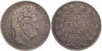 France 5 Francs Louis-Philippe 1er - 1847 K Bordeaux