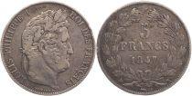 France 5 Francs Louis-Philippe 1er - 1847 K Bordeaux