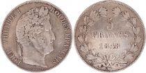 France 5 Francs Louis-Philippe 1er - 1848 A Paris
