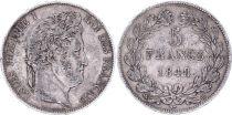 France 5 Francs Louis-Philippe 1er - 1848 BB Strasbourg