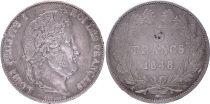 France 5 Francs Louis-Philippe 1er - 1848 K Bordeaux