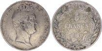France 5 Francs Louis-Philippe 1er - Sans I - 1830 D Lyon