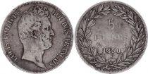 France 5 Francs Louis-Philippe 1er - Sans I - 1830 W Lille