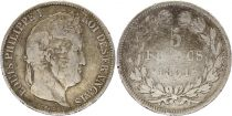 France 5 Francs Louis-Philippe 1st - 1831 B Rouen - Silver