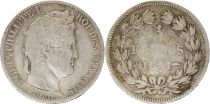 France 5 Francs Louis-Philippe 1st - 1831 BB Strasbourg - Silver Incuse