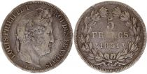 France 5 Francs Louis-Philippe 1st - 1831 W Lille - Silver