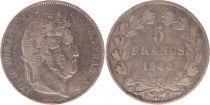 France 5 Francs Louis-Philippe 1st - 1844 W Lille