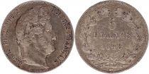 France 5 Francs Louis-Philippe 1st - 1845 W Lille