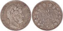 France 5 Francs Louis-Philippe 1st - 1847 A Paris