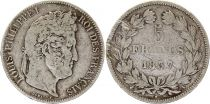 France 5 Francs Louis-Philippe I - 1837 A Paris Argent