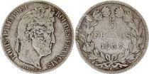 France 5 Francs Louis-Philippe I - 1837 A Paris Argent