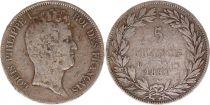 France 5 Francs Louis-Philippe Ier - 1831 B Rouen tranche en creux