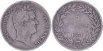 France 5 Francs Louis-Philippe Ier - 1831 MA Marseille tranche en creux - TB