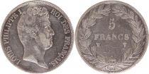 France 5 Francs Louis-Philippe Ier - 1831 W Lille tranche en creux