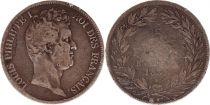 France 5 Francs Louis-Philippe Ier - 183x B Rouen (date illisisble) tranche en creux