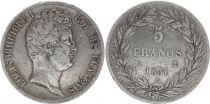 France 5 Francs Louis-Philippe Ist- 1831 A Paris incuse lettering
