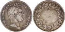 France 5 Francs Louis-Philippe Ist- 1831 B Rouen (date ? ) incuse lettering