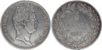France 5 Francs Louis-Philippe Ist- 1831 B Rouen incuse lettering