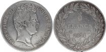 France 5 Francs Louis-Philippe Ist- 1831 B Rouen incuse lettering