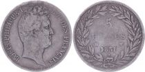 France 5 Francs Louis-Philippe Ist- 1831 MA Marseille incuse lettering - F