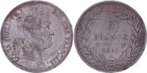 France 5 Francs Louis-Philippe Ist- 1831 W Lille incuse lettering - F to VF