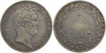 France 5 Francs Louis-Philippe sans  I - 1830 B tranche en creux