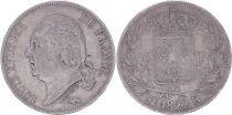 France 5 Francs Louis XVIII - 1822 K Bordeaux - F+