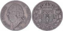 France 5 Francs Louis XVIII - 1824 A Paris - Fine