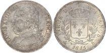 France 5 Francs Louis XVIII - Buste habillé - 1815 B Rouen