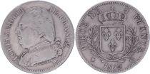 France 5 Francs Louis XVIII - Buste habillé - 1815 Q Perpignan - TB+