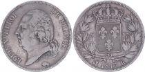 France 5 Francs Louis XVIII - Buste habillé - 1817 K Bordeaux - TB+