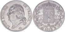 France 5 Francs Louis XVIII - Buste nu - 1819 B Rouen - TB+