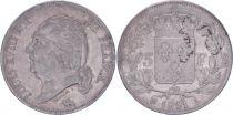France 5 Francs Louis XVIII - Buste nu - 1821 A Paris - PTTB